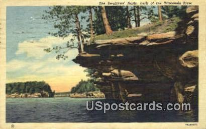 The Swallows Nest - Dells Of The Wisconsin River Postcards, Wisconsin WI Postcard