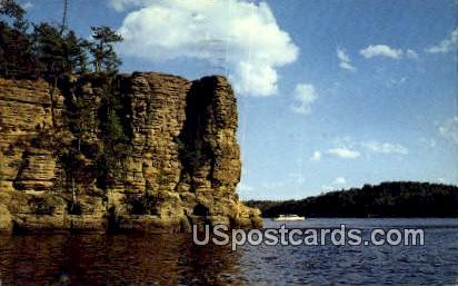 Afternoon at High Rock - Wisconsin Dells Postcards, Wisconsin WI Postcard