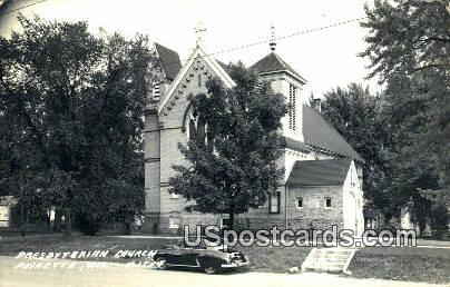 Presbyterian Church Real Photo - Poynette, Wisconsin WI Postcard
