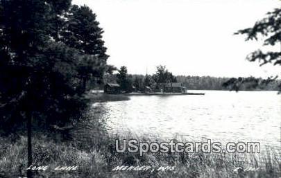 Long Lake Real Photo - Mercer, Wisconsin WI Postcard
