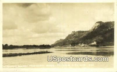 Mississippi River Real Photo - Fountain City, Wisconsin WI Postcard