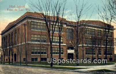 High School, Fond Du Lac - Wisconsin WI Postcard