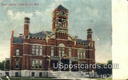 Court House - Fond du Lac, Wisconsin WI Postcard