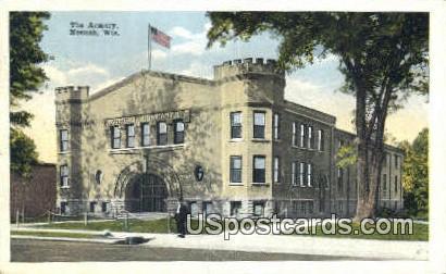 The Armory - Neenah, Wisconsin WI Postcard