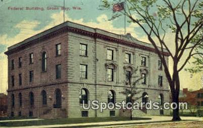 Federal Building - Green Bay, Wisconsin WI Postcard
