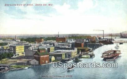 River - Green Bay, Wisconsin WI Postcard