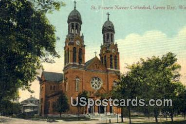 St Francis Xavier Cathedral - Green Bay, Wisconsin WI Postcard