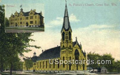 St Patrick's Church - Green Bay, Wisconsin WI Postcard