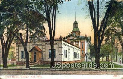 Court House - Green Bay, Wisconsin WI Postcard