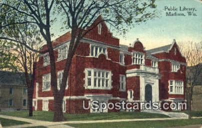 Public Library - Madison, Wisconsin WI Postcard