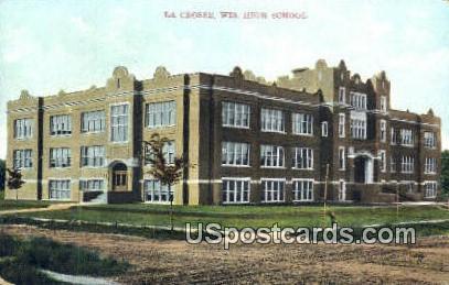 High School, La Crosse - Wisconsin WI Postcard