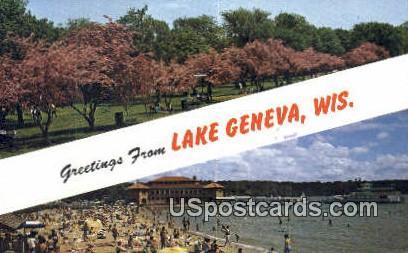 Flowering Crab Apple Trees - Lake Geneva, Wisconsin WI Postcard