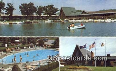 Abbey on the Lake Geneva - Fontana, Wisconsin WI Postcard