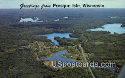 Presque Isle, Wisconsin     ;     Presque Isle, WI Postcard