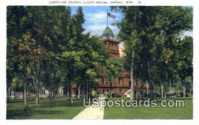 Langlade County Court House - Antigo, Wisconsin WI Postcard