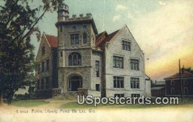 Public Library - Fond du Lac, Wisconsin WI Postcard