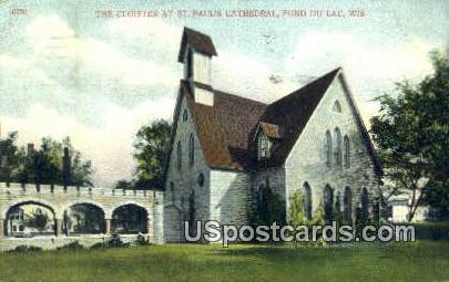 Cloister at St Paul's Cathedral - Fond du Lac, Wisconsin WI Postcard
