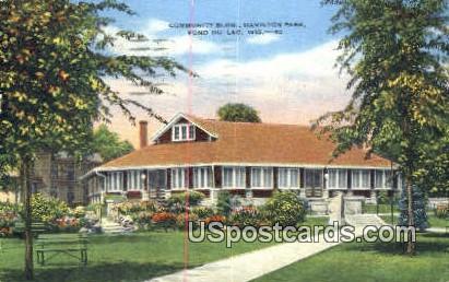 Community Building, Hamilton Park - Fond du Lac, Wisconsin WI Postcard