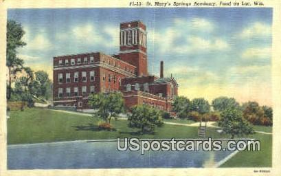 St Mary's Springs Academy - Fond du Lac, Wisconsin WI Postcard