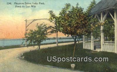 Pleasure Drive, Lake Park - Fond du Lac, Wisconsin WI Postcard