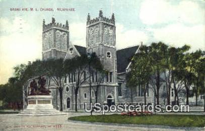 Grand Ave ME Church - MIlwaukee, Wisconsin WI Postcard