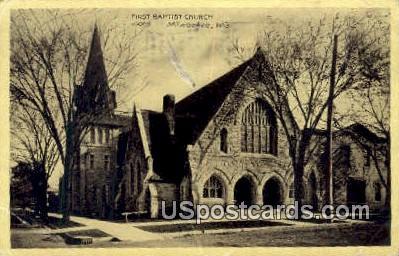 First Baptist Church - MIlwaukee, Wisconsin WI Postcard