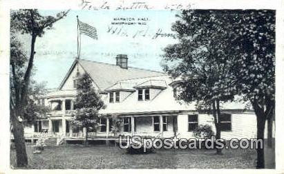 Marston Hall - Waupaca, Wisconsin WI Postcard