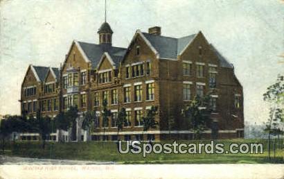 Wausau High School - Wisconsin WI Postcard