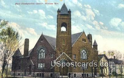 First Presbyterian Church - Wausau, Wisconsin WI Postcard