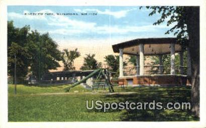 Riverview Park - Watertown, Wisconsin WI Postcard