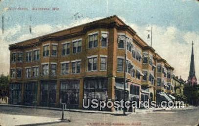 Ovitt Block - Waukesha, Wisconsin WI Postcard
