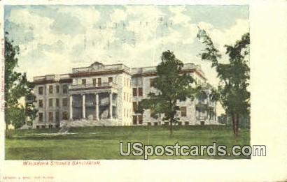 Waukesha Springs Sanitarium - Wisconsin WI Postcard