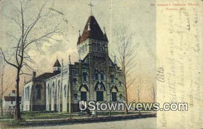 St Joseph's Catholic Church - Oconto, Wisconsin WI Postcard