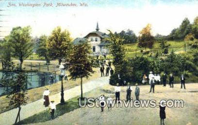Zoo, Washington Park - MIlwaukee, Wisconsin WI Postcard