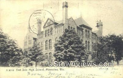 East High School - MIlwaukee, Wisconsin WI Postcard