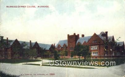 Milwaukee-Downer College - Wisconsin WI Postcard