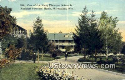 National Soldiers' Home - MIlwaukee, Wisconsin WI Postcard