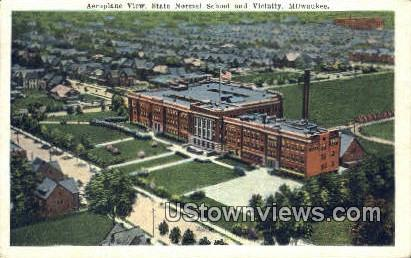State Normal School & Vicinity - MIlwaukee, Wisconsin WI Postcard