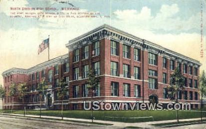 North Division High School - MIlwaukee, Wisconsin WI Postcard