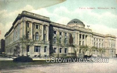 Public Library - MIlwaukee, Wisconsin WI Postcard