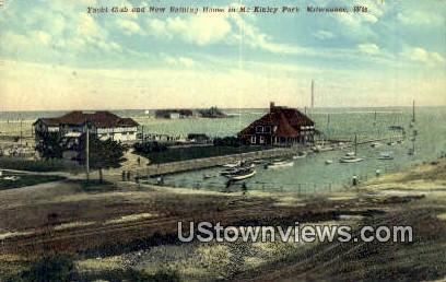 Yacht Club, McKinley Park - MIlwaukee, Wisconsin WI Postcard