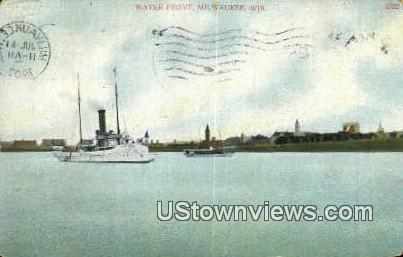 Water Front - MIlwaukee, Wisconsin WI Postcard