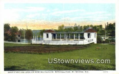 Open Air Dancing Pavilion, Mitchell Park - MIlwaukee, Wisconsin WI Postcard