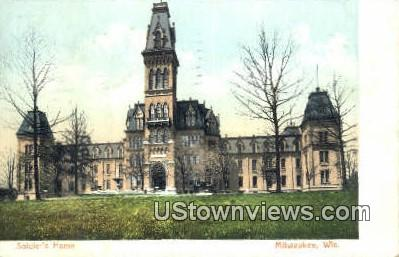 Soldier's Home - MIlwaukee, Wisconsin WI Postcard