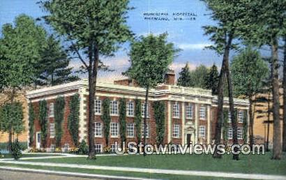Municipal Hospital - Shawano, Wisconsin WI Postcard