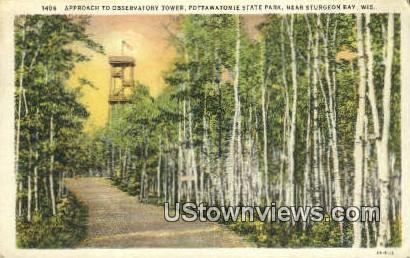 Pottawatomie State Park - Sturgeon Bay, Wisconsin WI Postcard