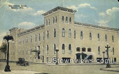 Sidney Hotel - Sparta, Wisconsin WI Postcard