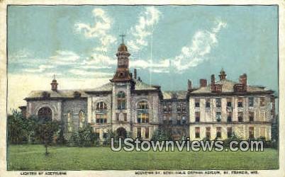 Souvenir St Aemilianus Orphan Asylum - St. Francis, Wisconsin WI Postcard
