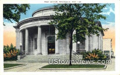 Post Office - Waukesha, Wisconsin WI Postcard