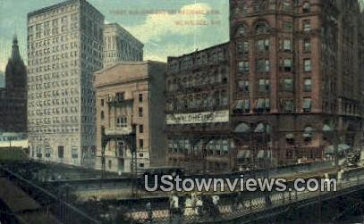 Pabst Building, 1st National Bank - MIlwaukee, Wisconsin WI Postcard
